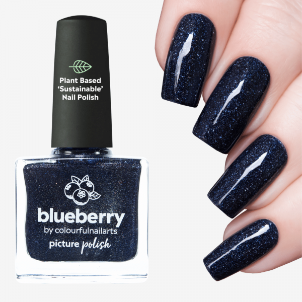 Blueberry Holographic Nail Polish