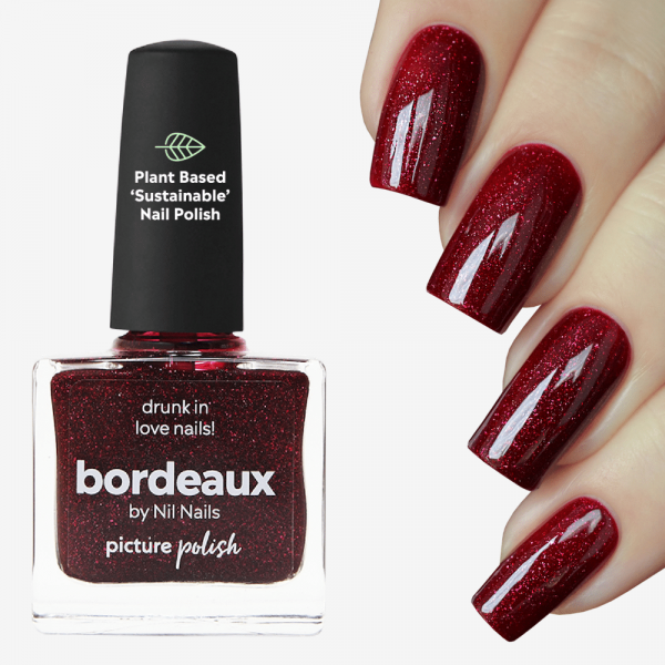 Bordeaux Holographic Nail Polish