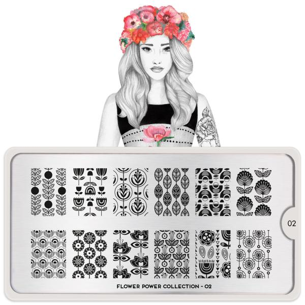 MoYou London Stamping Plate Flower Power 02