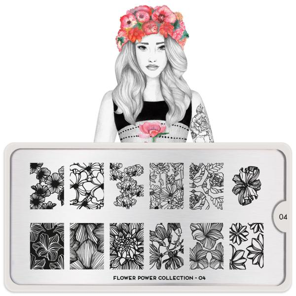 MoYou London Stamping Plate Flower Power 04