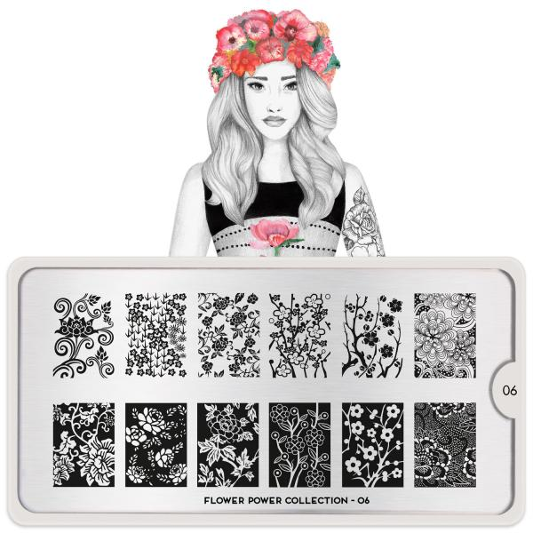 MoYou London Stamping Plate Flower Power 06