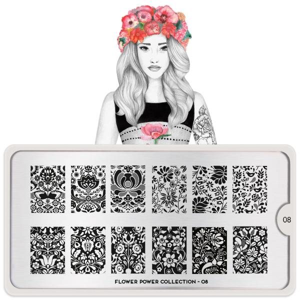 MoYou London Stamping Plate Flower Power 08
