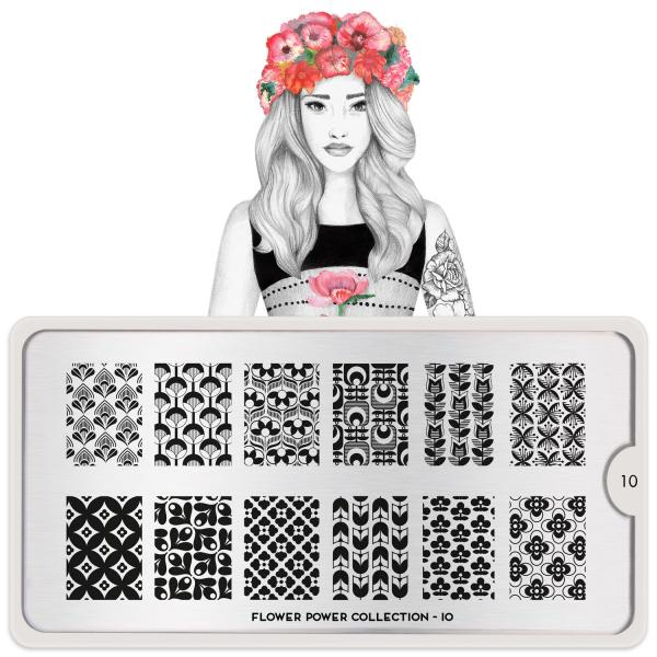 MoYou London Stamping Plate Flower Power 10