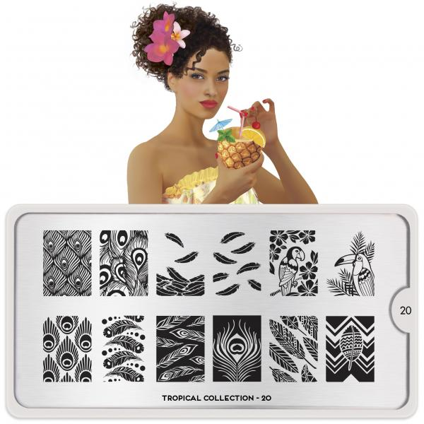 MoYou London Stamping Plate Tropical 20
