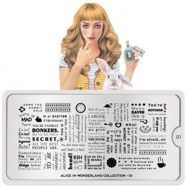 MoYou London Stamping Plate Alice 01
