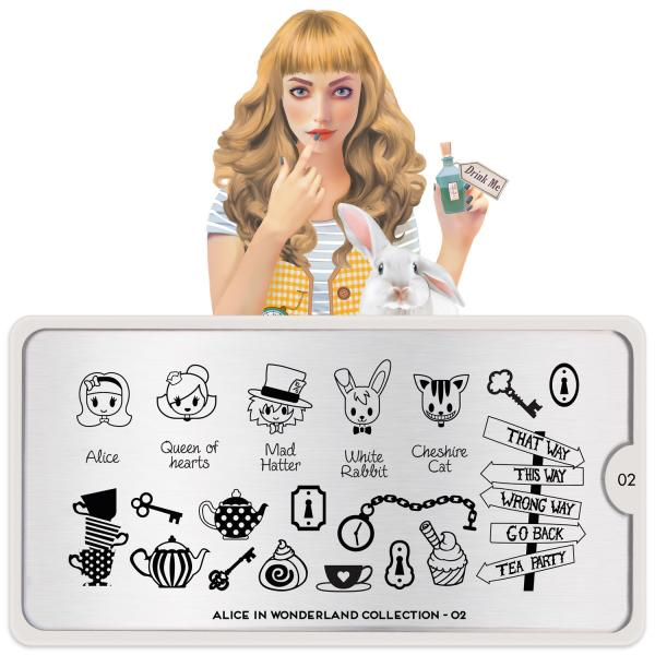 MoYou London Stamping Plate Alice 02