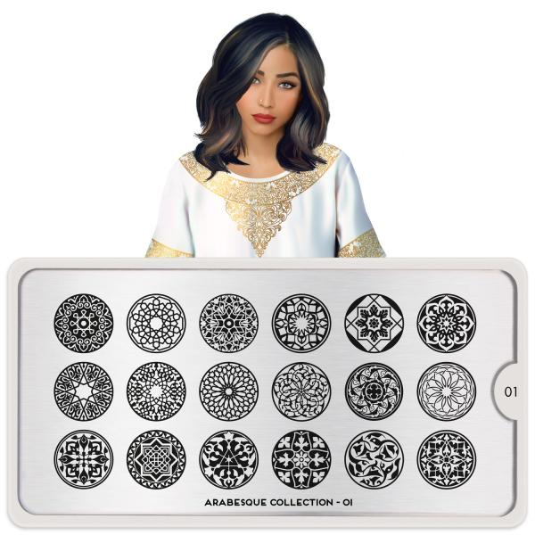 MoYou London Stamping Plate Arabesque 01