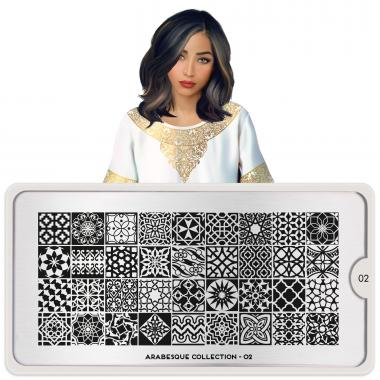 MoYou London Stamping Plate Arabesque 02