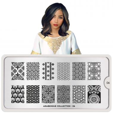 MoYou London Stamping Plate Arabesque 06