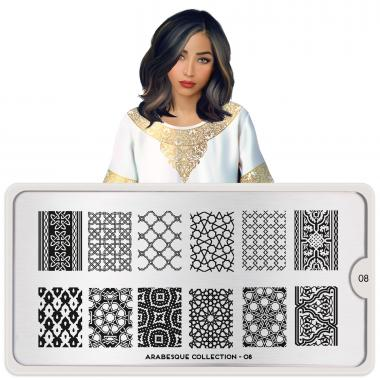 MoYou London Stamping Plate Arabesque 08