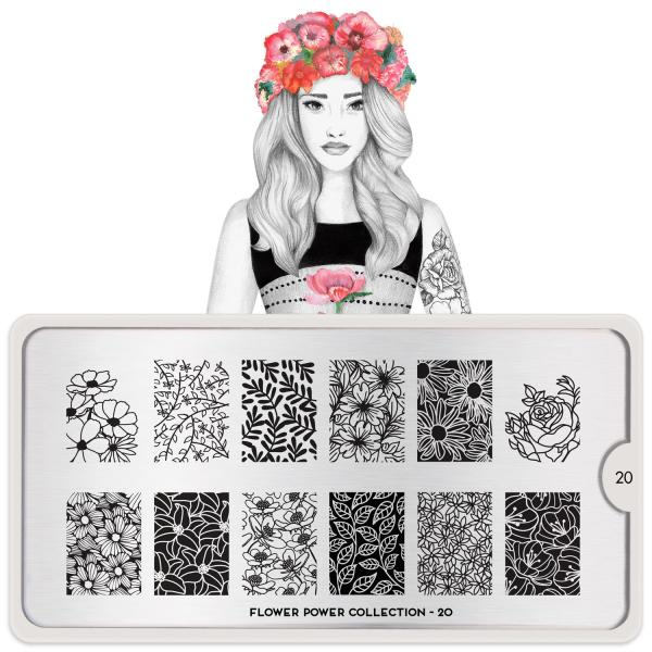 MoYou London Stamping Plate Flower Power 20