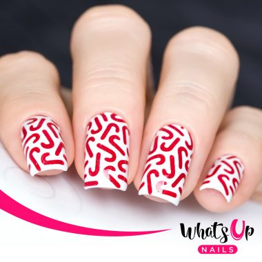 Nail Stencils Candy Cane