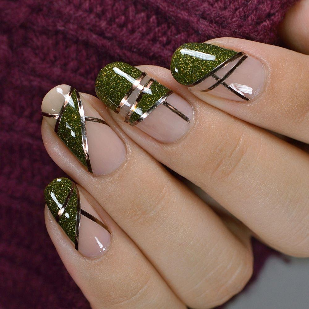 Mossy Nail Art