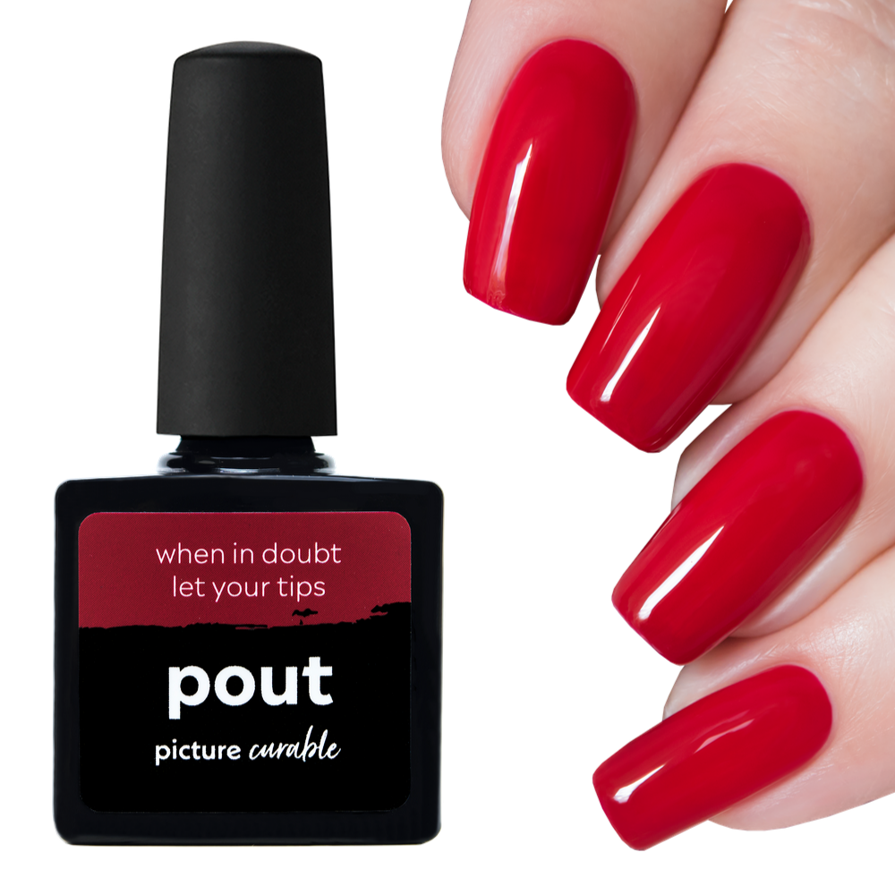 Pout Curable Lacquer