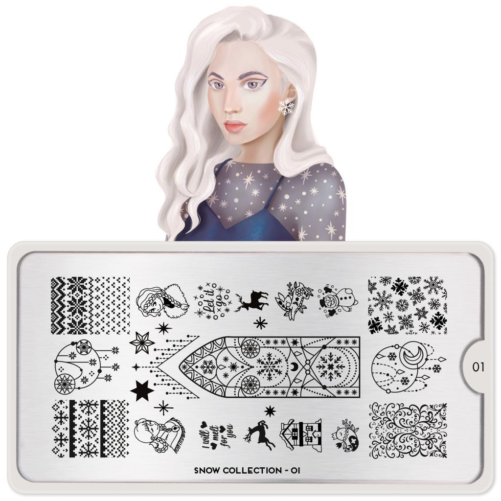 Stamping Plate Snow 01