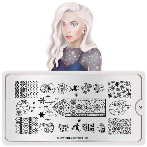 Moyou London Stamping Plate Snow 01