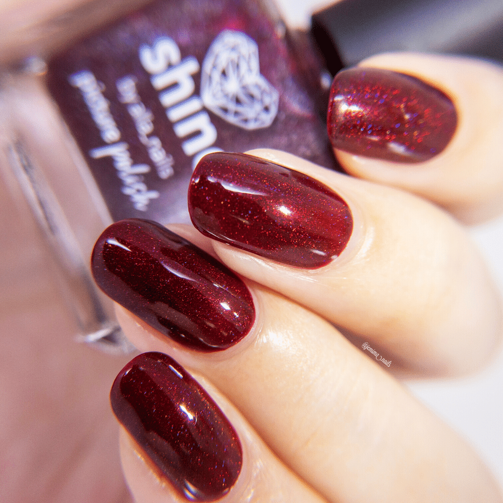 Nail Polish Shine Burgundy