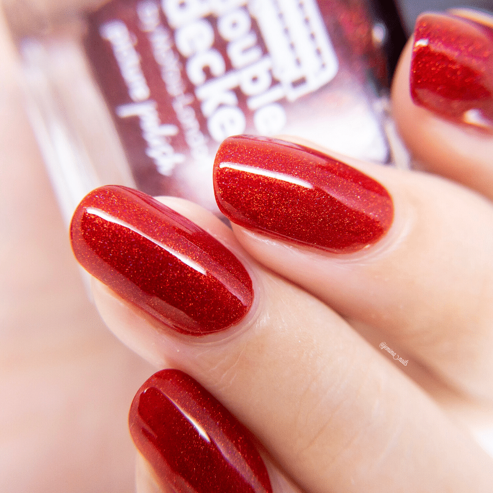 Red Nail Polish Double Decker