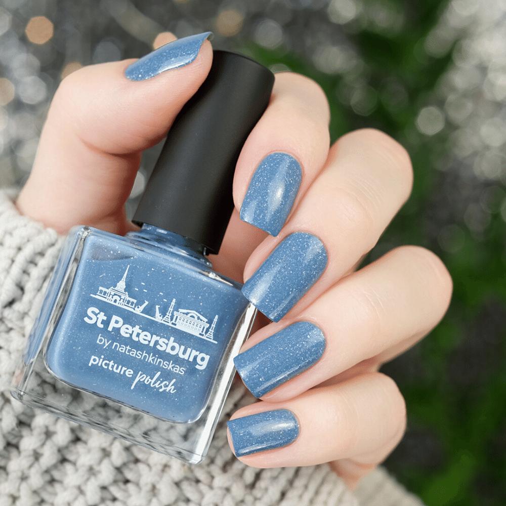 Light Blue Holograhpic Nail Polish