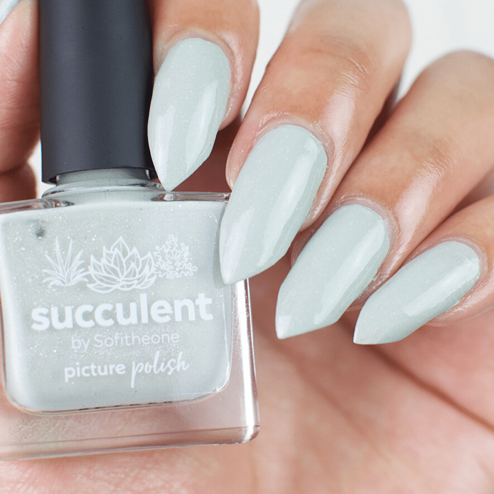 Mint Green Succulent Nail Polish