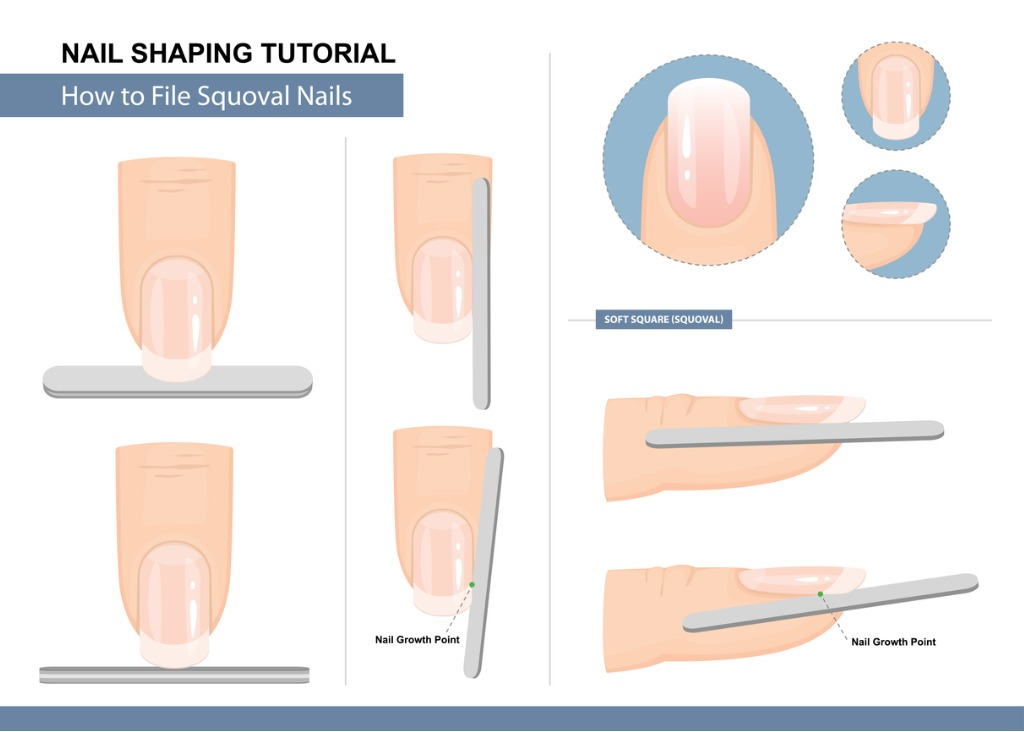 How To Squoval Nail Shape