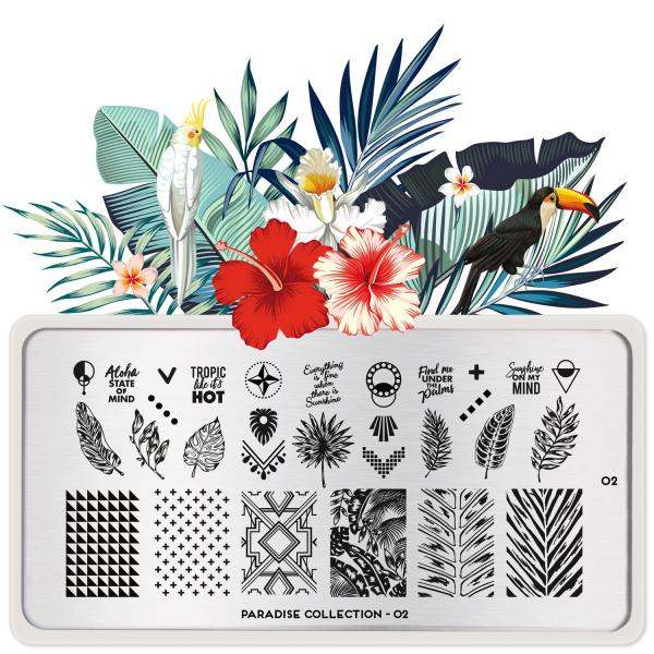Moyou London Stamping Plate Paradise 02