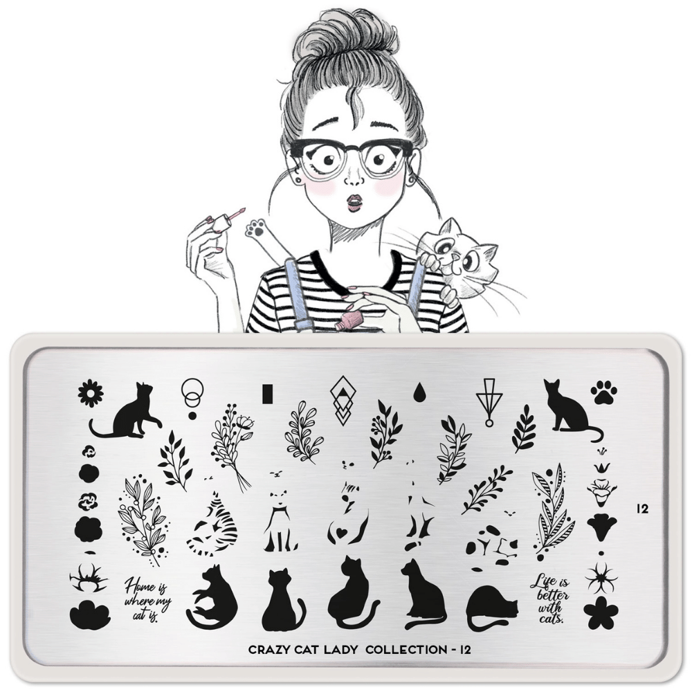 Stamping Plate Crazy Cat Lady 12