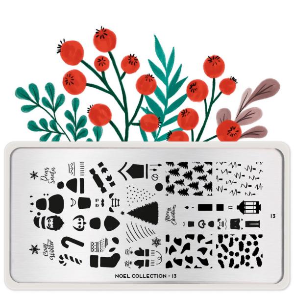 Stamping Plate Noel 13