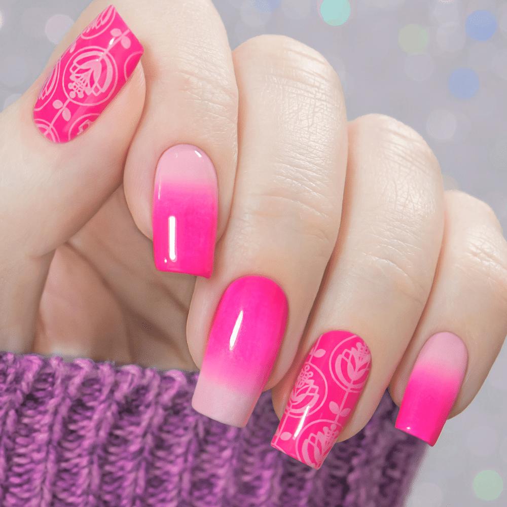 Pink Nail Polish Gradient Nail Art