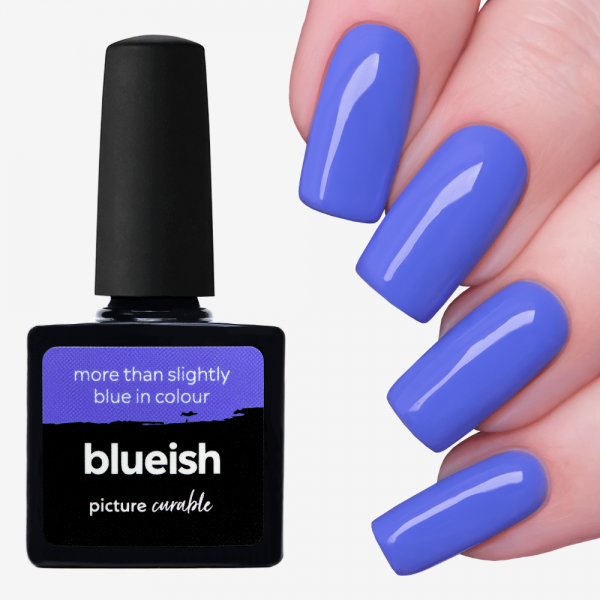 Blueish Curable Lacquer