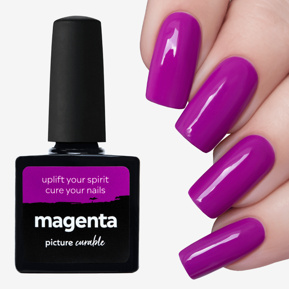 Magenta Curable Lacquer