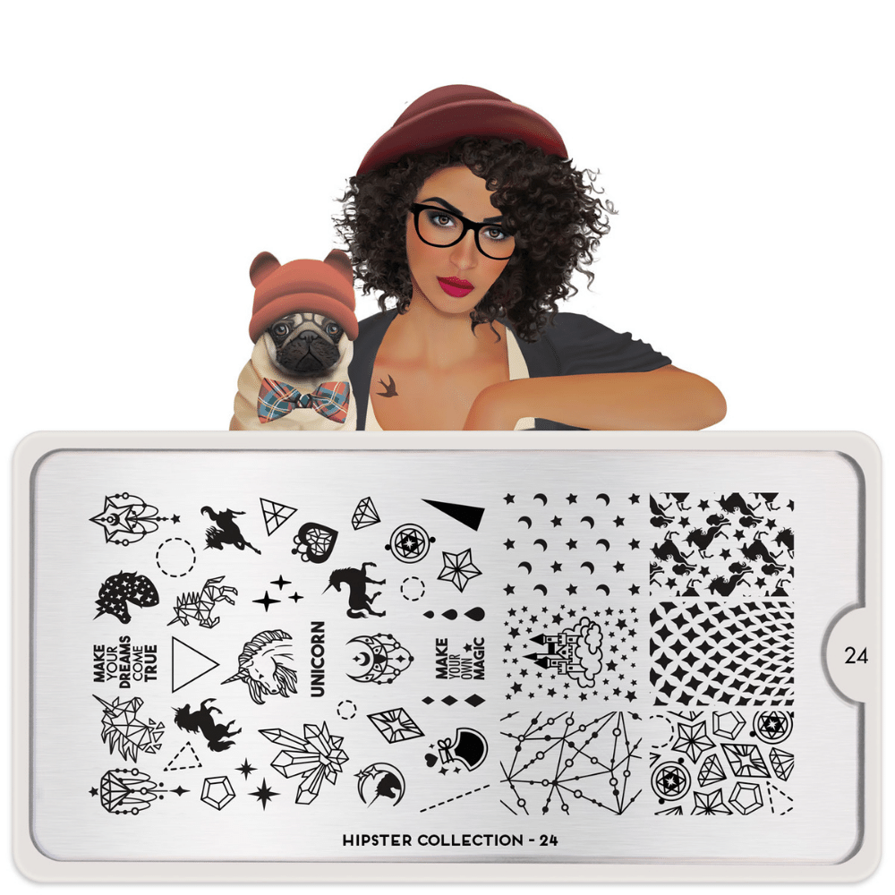 Stamping Plate Hipster 24