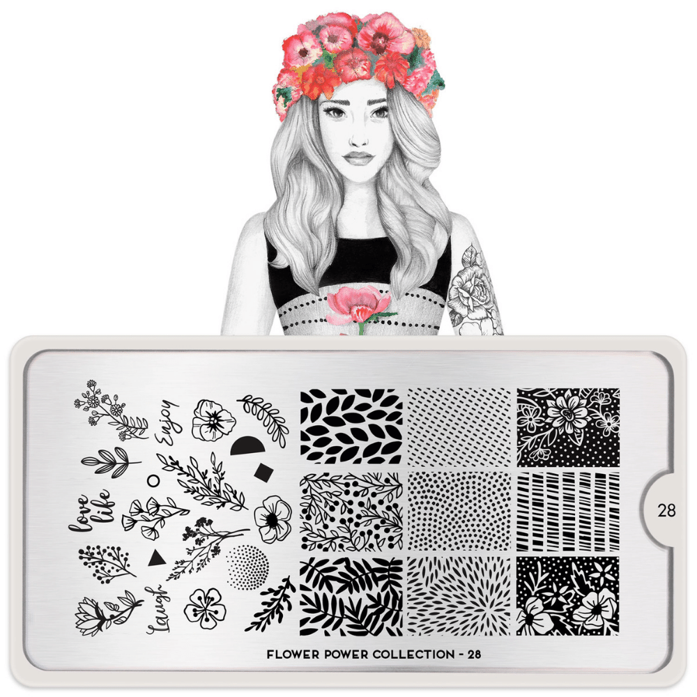 Stamping Plate Flower Power 28