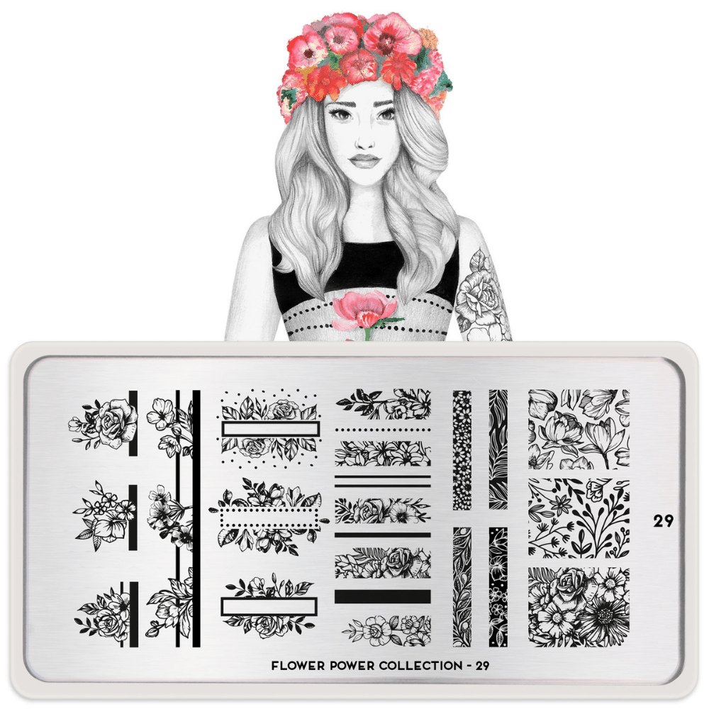 Stamping Plate Flower Power 29
