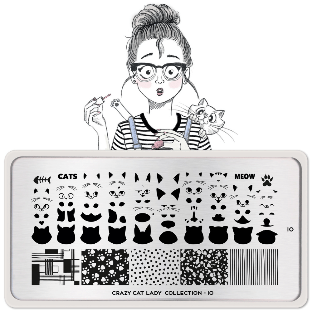 Stamping Plate Crazy Cat Lady 10