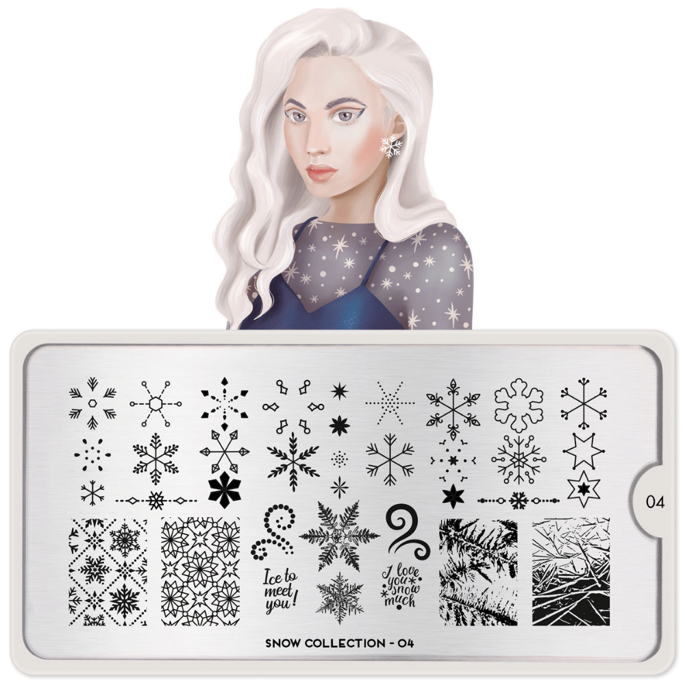 Stamping Plate Snow 04