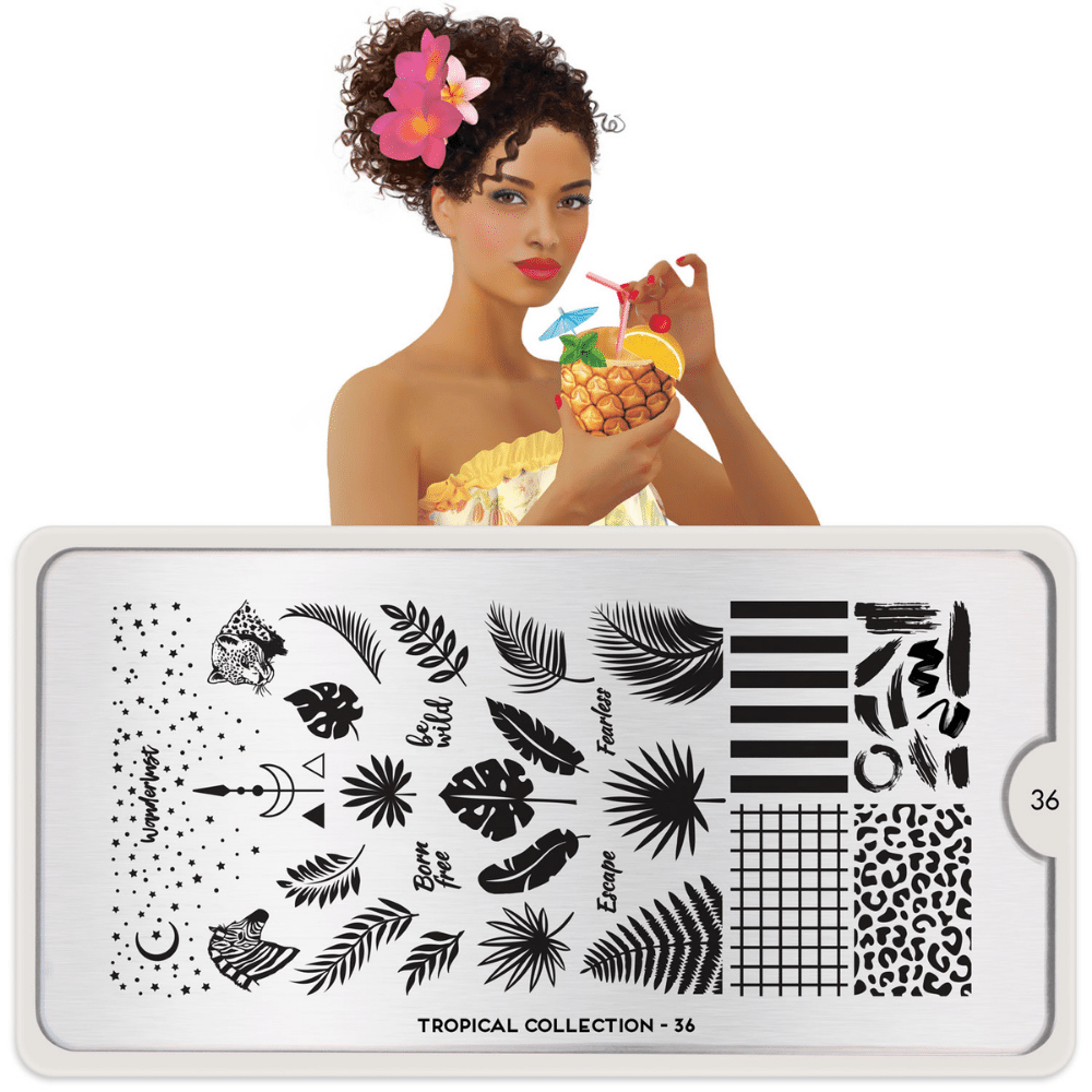 Stamping Plate Tropical 36