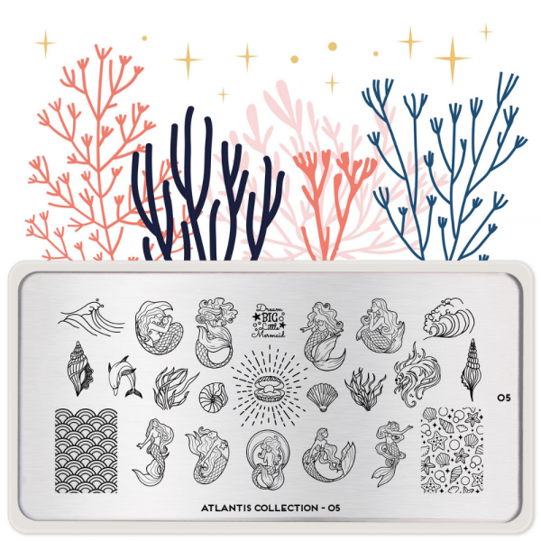 Moyou London Stamping Plate Altantis 05