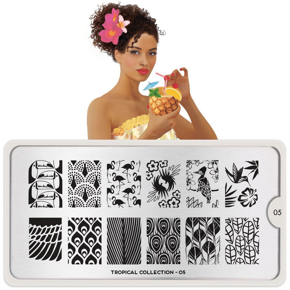 Stamping Plate Tropical 05
