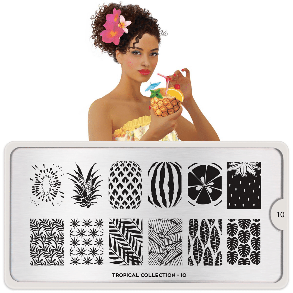 Stamping Plate Tropical 10